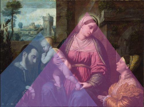 1528 Moretto,_Madonna_col_Bambino_e_due_donatori Philadelphia Museum Art schema