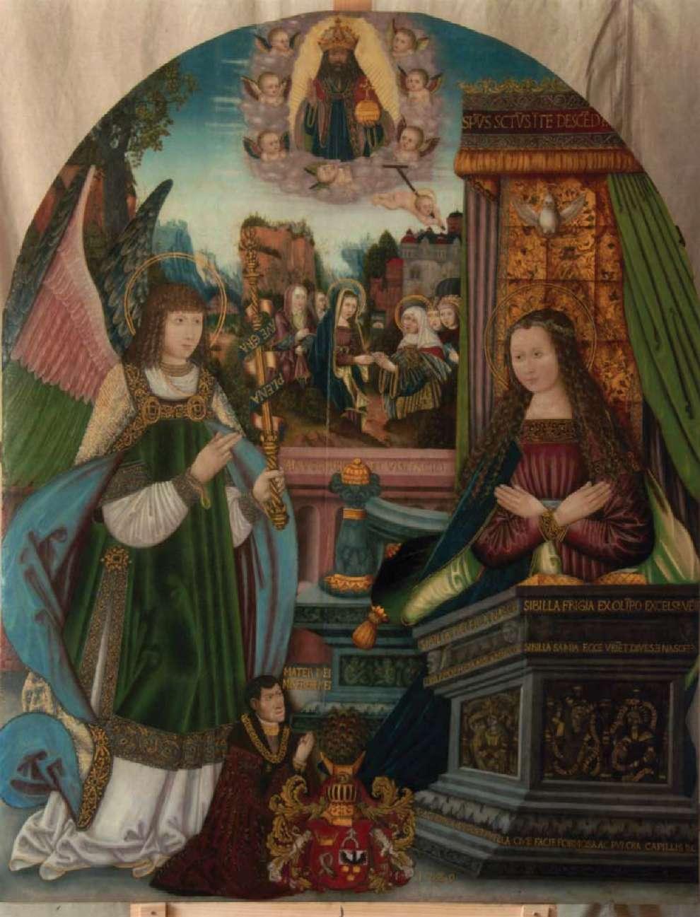 1529 Anonyme Chateau de Kornik Pologne Donateur Lukasz II Gorka