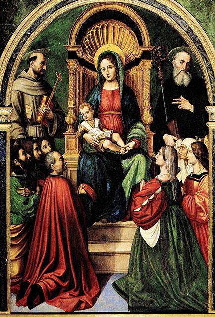 1529 Giacomo Santoro (attr.), Madonna Greca, Alcamo, chiesa di Santa Maria di Gesu