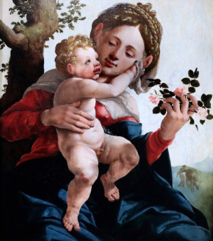 1530 Jan_van_Scorel_-_Madonna_with roses Utrecht central Museum photo JL Mazieres