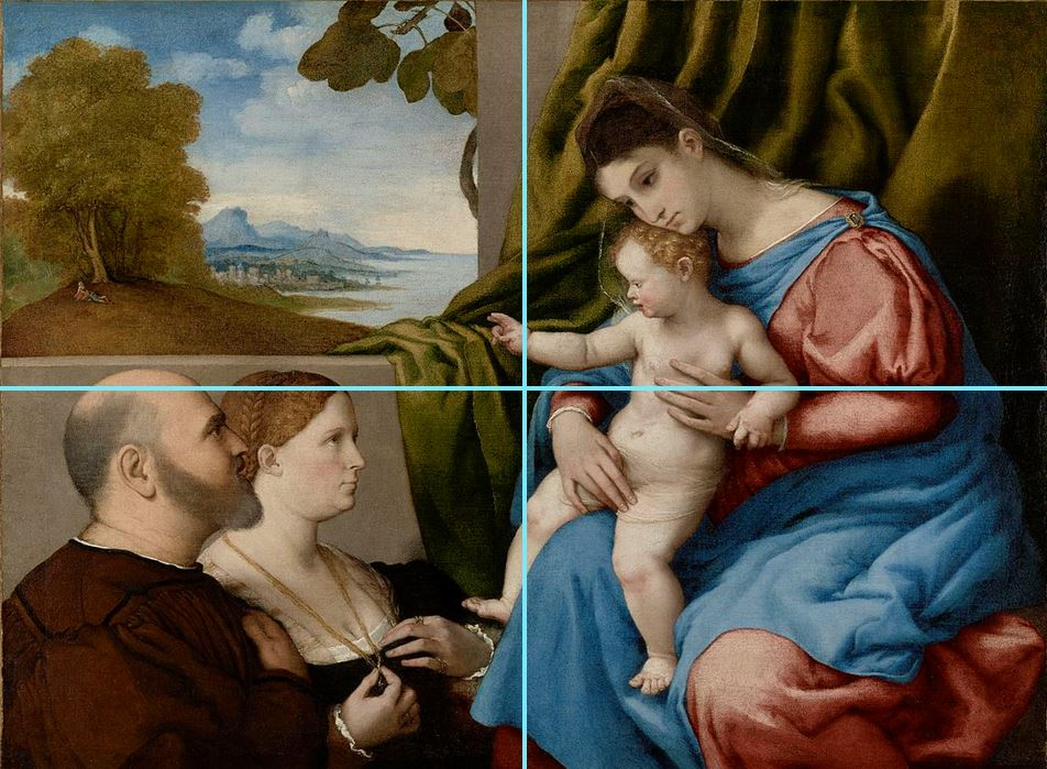 1533-35 Lotto_-_Madonna_and_Child_with_Two_Donors_J._Paul_Getty_Museum schema
