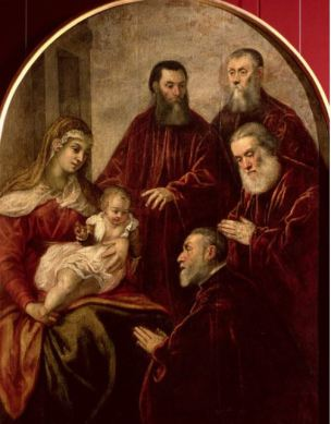 1553 Jacopo Tintoretto The Virgin and Child with four senators Accademia Venise