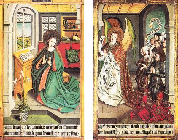 Altarflugel aus der Pfarrkirche Langenargen, Hans Strigel d. A., 1465. Staatsgalerie Stuttgart