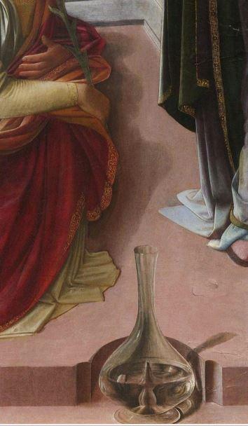 Filippo Lippi Annonciation Martelli detail carafe