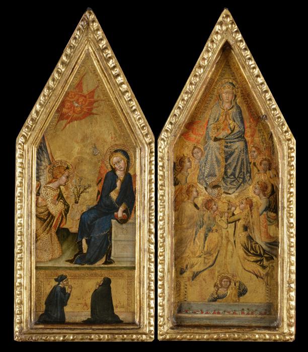 Francesco di Vannuccio 1380 ca Annunciation and Assumption of the Virgin Cambridge, Girton College