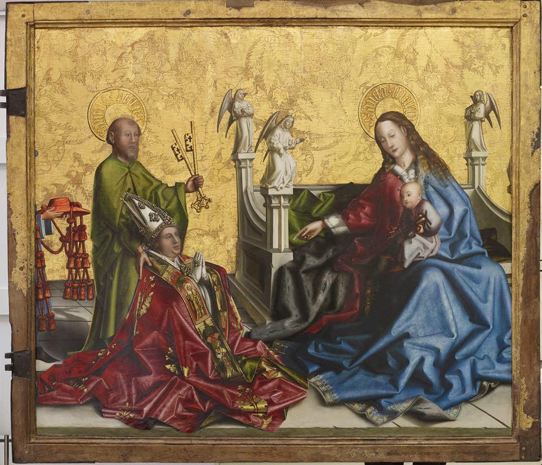 Konrad Witz 1444 La presentation Francois de Metz a la Vierge Musee d'Art Geneve