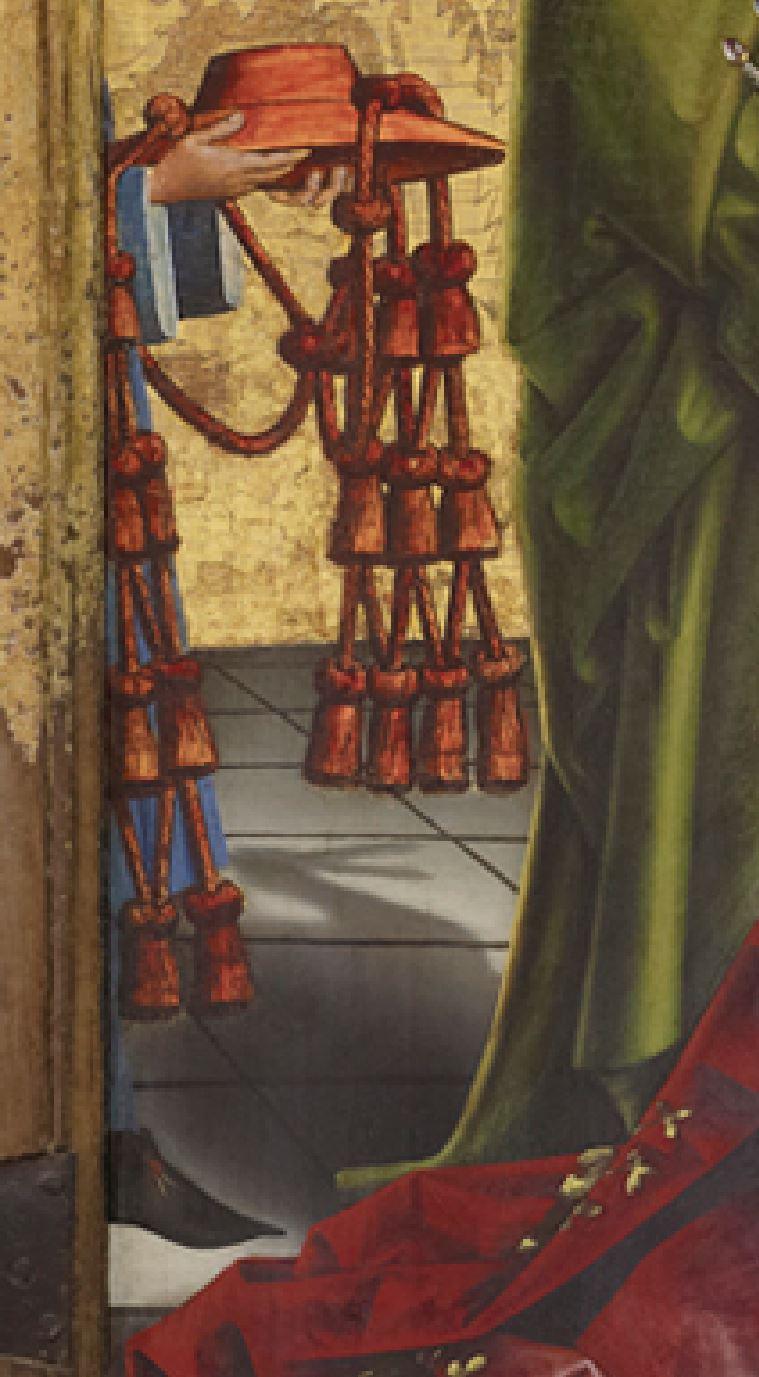 Konrad Witz 1444 La presentation du cardinal Francois de Metz a la Vierge Musee d'Art et Histoire Geneve detail