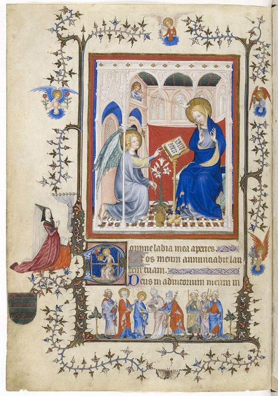 Master-of-the-Parement-de-Narbonne-Annunciation-p.-2-from-the-Tres-Belles-Heures-de-Notre-Dame-c.-1390-1410.-Paris-Bibliotheque-Nationale-de-France-n.a.-lat.-3093.