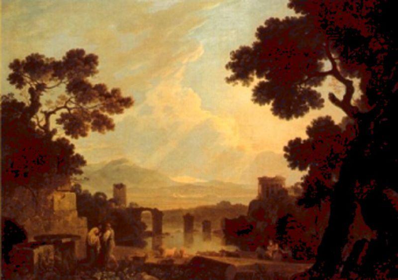 1754 ca Wilson, Richard capriccio con il ponte di Augusto bis coll priv