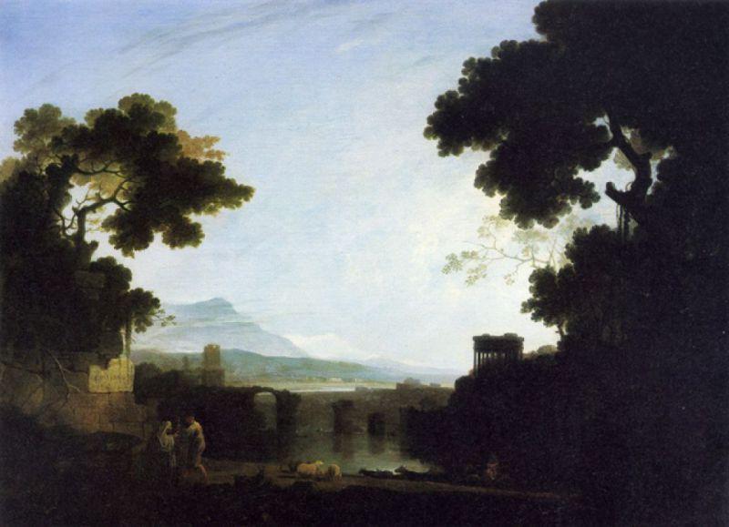 1754 ca Wilson, Richard capriccio con il ponte di Augusto coll priv
