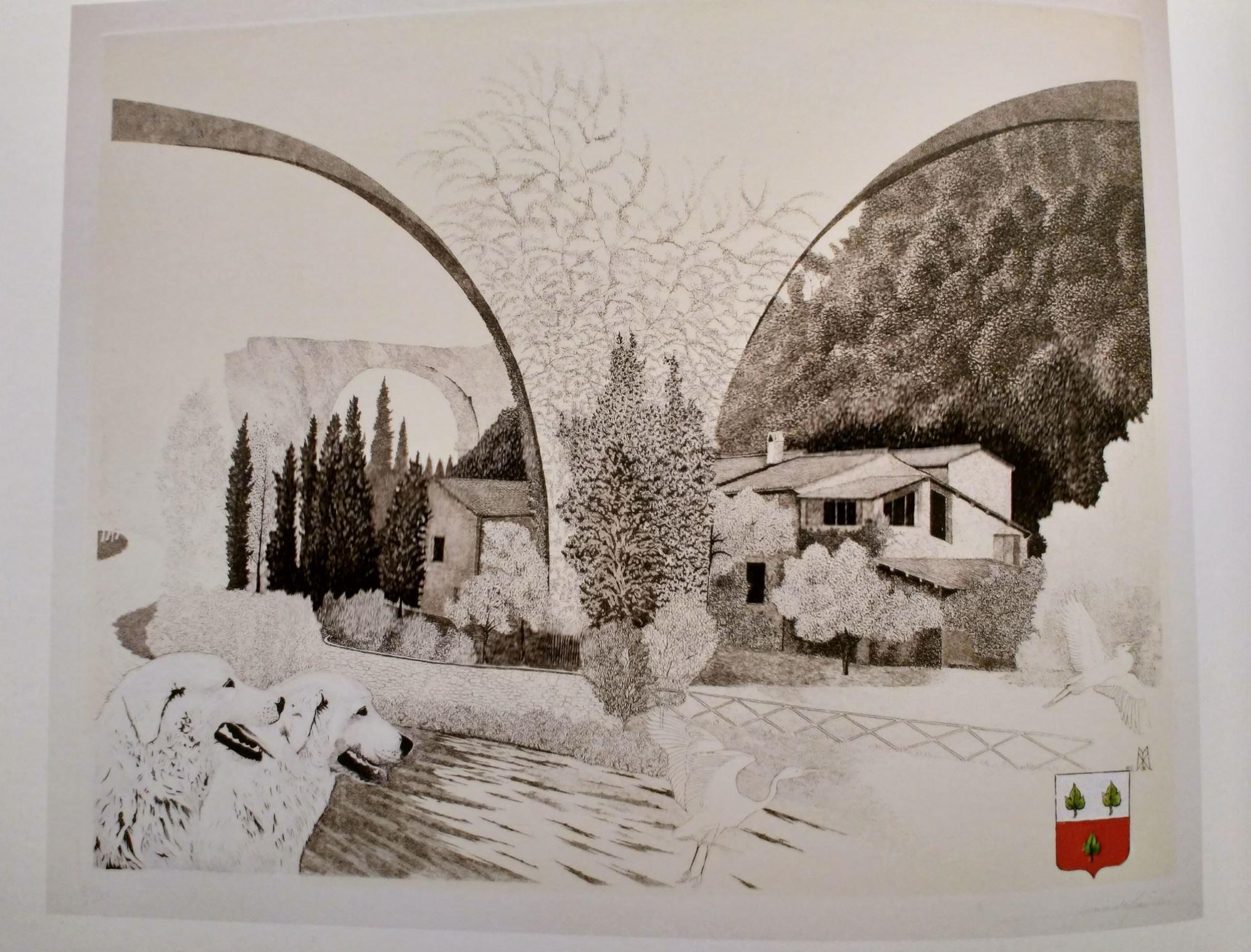 2005 Il Muline Eroli e il ponte di Narni Xavier de Maistre eau forte exposition 2015