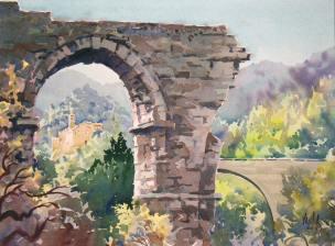 2007 Ann Vasilik aquarelle ponte-di-augusto