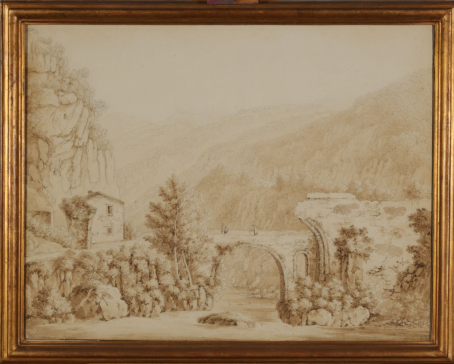 Francois Kaisermann The Bridge of Augustus near Narni Florence Court, County Fermanagh