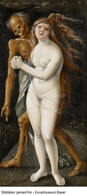 Hans_Baldung_1517 La jeune fille et la Mort Musee des BA Bale
