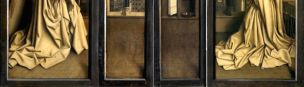 1432 Van Eyck Retable de Gand revers detail