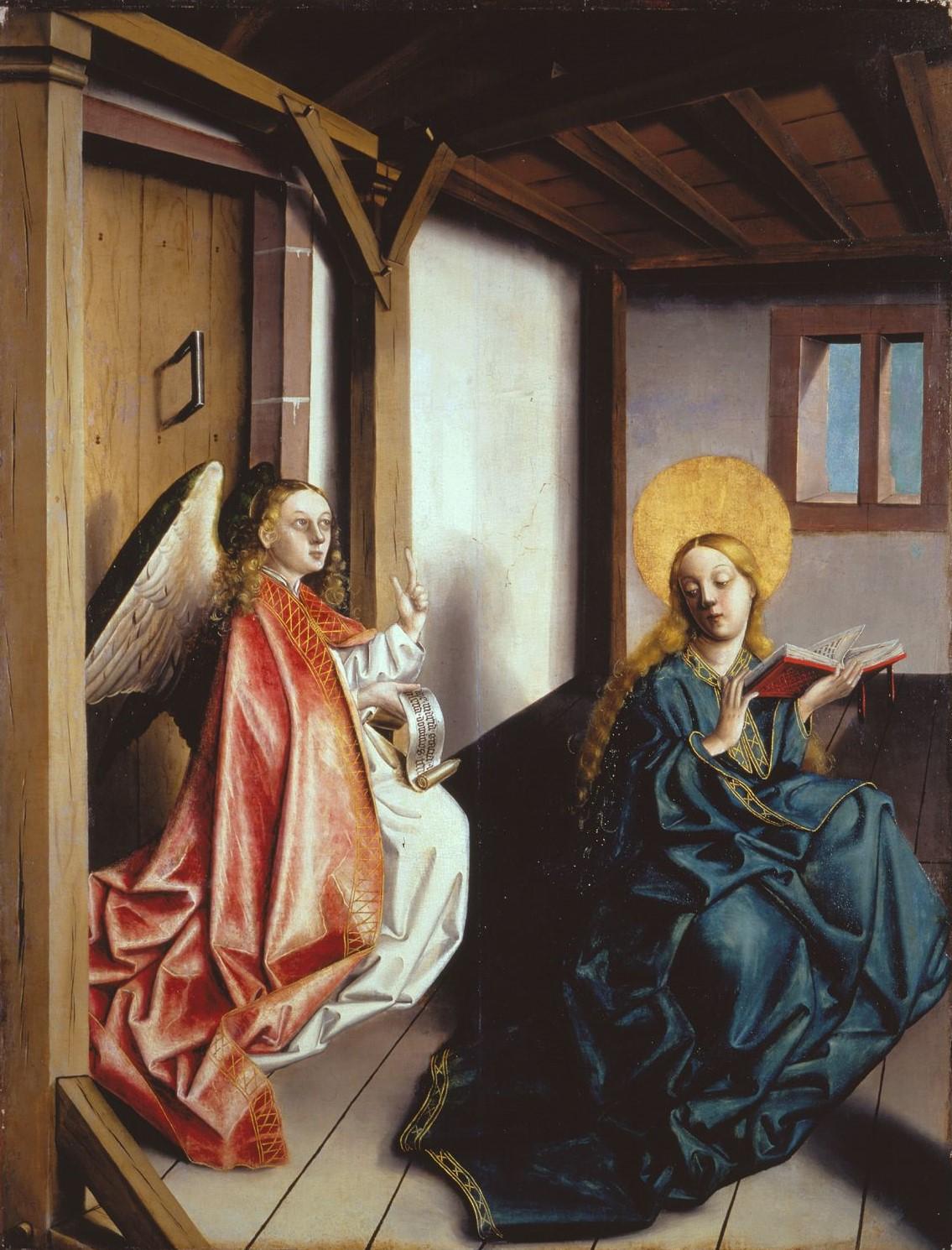1437-40 Konrad Witz Annonciation Germanisches National Museum Nuremberg