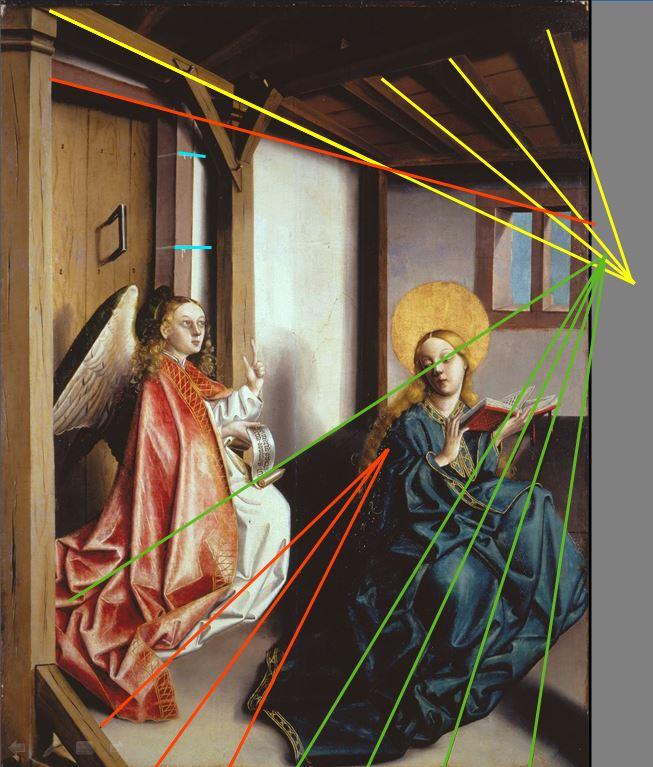 1437-40 Konrad Witz Annonciation Germanisches National Museum Nuremberg perspective