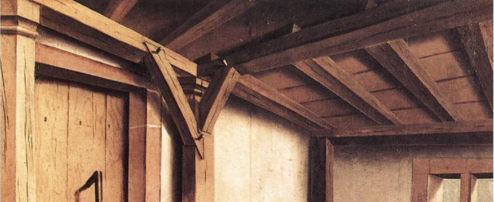 1437-40 Konrad Witz Annonciation Germanisches National Museum Nuremberg plafond