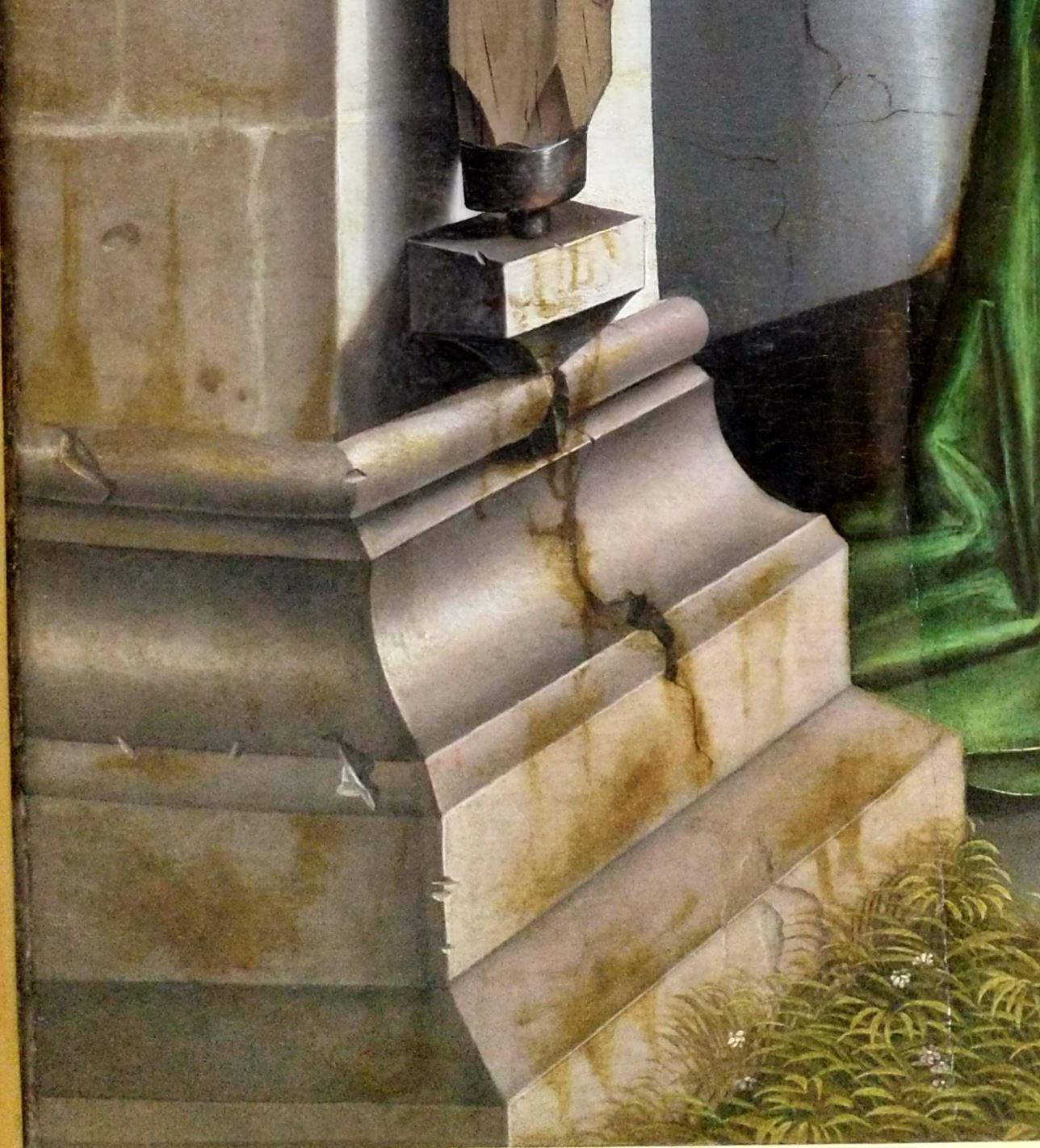 1437-40 Konrd Witz Porte doree Musee des BA Bale detail bas