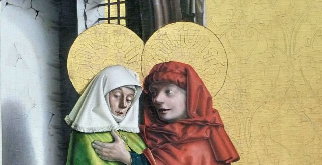 1437-40 Konrd Witz Porte doree Musee des BA Bale ouverture porte