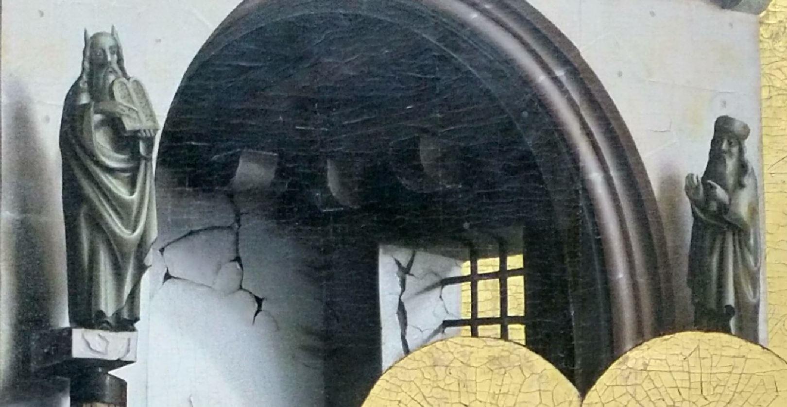 1437-40 Konrd Witz Porte doree Musee des BA Bale statuettes