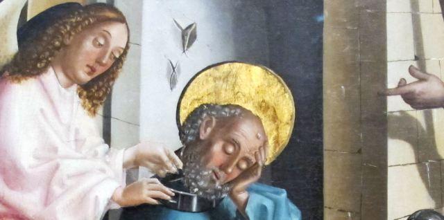 1444 Konrad Witz Delivrance de Saint Pierre Musee des BA Geneve detail