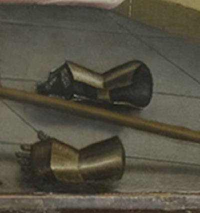 1444 Konrad Witz Delivrance de Saint Pierre Musee des BA Geneve detail gants