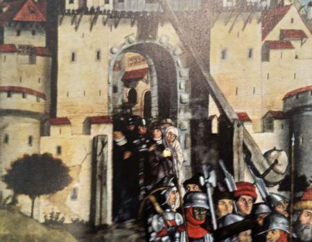 1449 Master of the Junteler epitaph Museum zu Allerheiligen Schaffausen detail