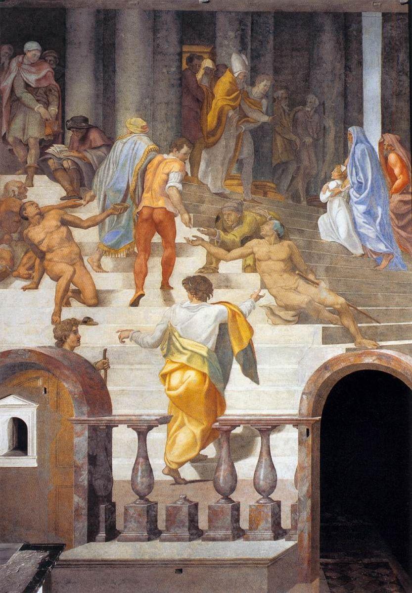 Daniele-Da-Volterra-1555 The-Presentation-of-the-Virgin Fresque Trinite des Monts