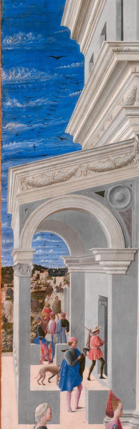 Fra Carnevale 1467 La naissance de la Vierge MET appentis