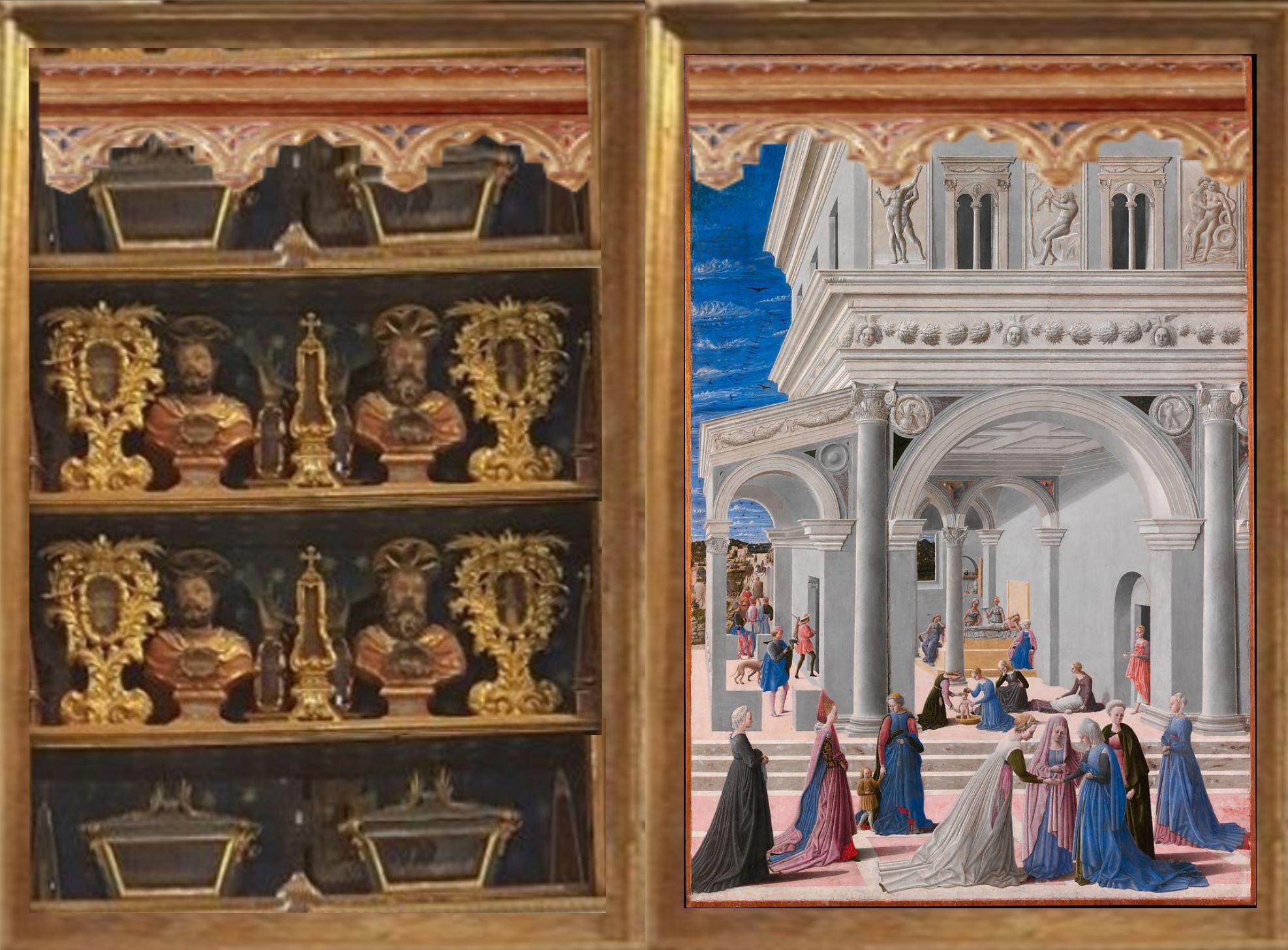Fra Carnevale 1467 La naissance de la Vierge MET armoire