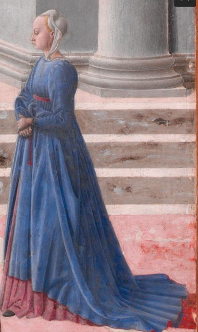 Fra Carnevale 1467 La naissance de la Vierge MET detail passante