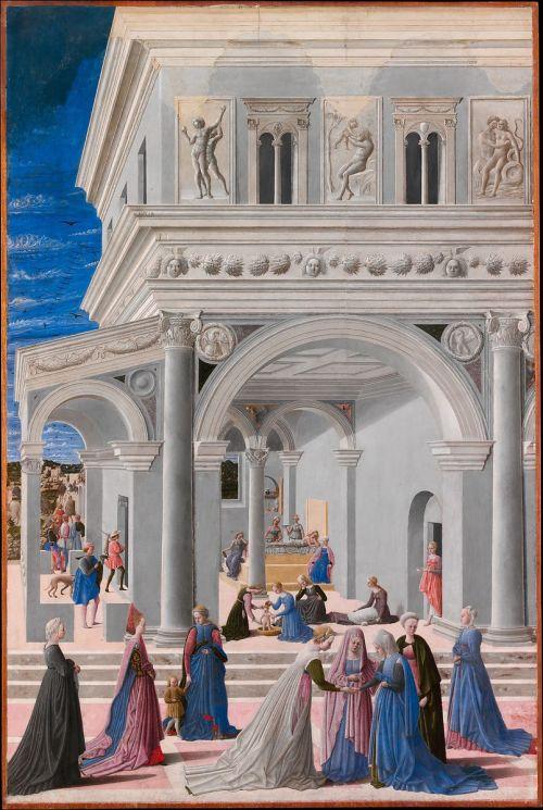 Fra Carnevale 1467 La naissance de la Vierge MET