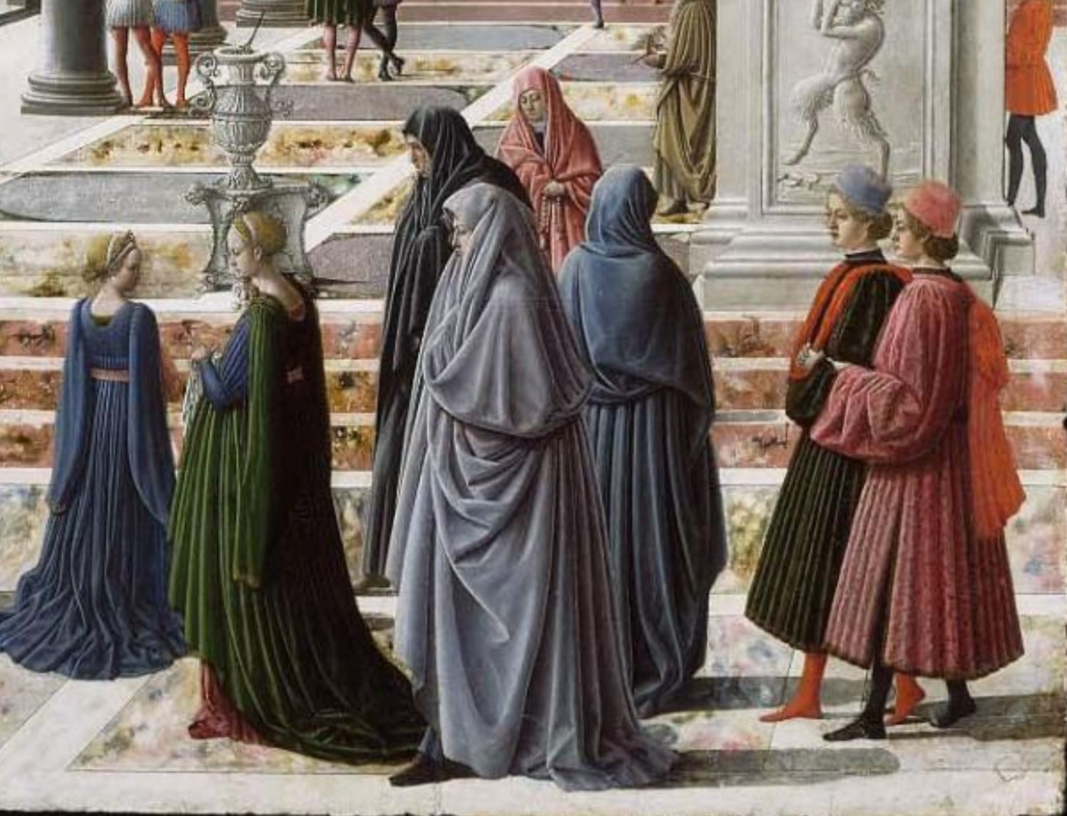 Fra Carnevale 1467 La presentation de la Vierge au Temple Museum Fine Arts Boston cortege