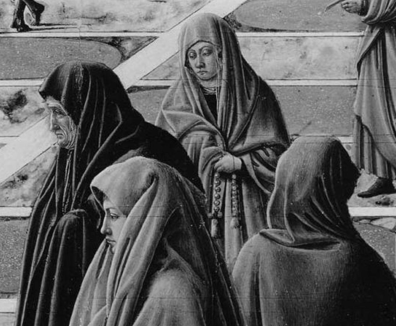 Fra Carnevale 1467 La presentation de la Vierge au Temple Museum Fine Arts Boston femmes