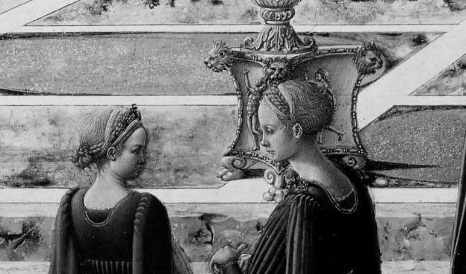 Fra Carnevale 1467 La presentation de la Vierge au Temple Museum Fine Arts Boston jeuens filles