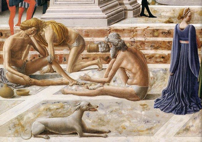 Fra Carnevale 1467 La presentation de la Vierge au Temple Museum Fine Arts Boston malades