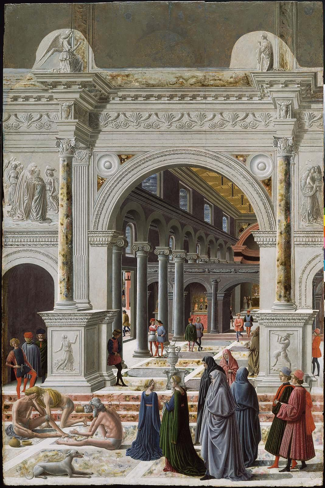 Fra Carnevale 1467 La presentation de la Vierge au Temple Museum Fine Arts Boston