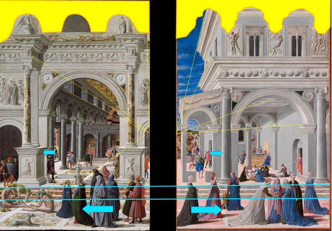 Fra Carnevale 1467 diptyque schema1