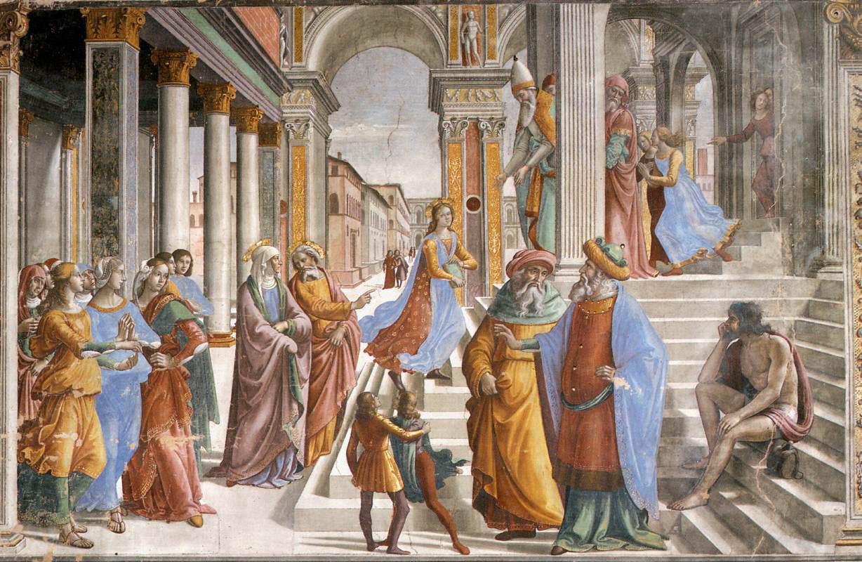 Ghirlandaio 1486-90 Presentation_of_the_Virgin_at_the_Temple , Chapelle Tornabuoni Santa Maria Novella