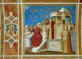 Giotto_di_Bondone_ 1303-05 Presentation au temple_Cappella degli Scrovegni
