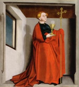 Konrad-Witz 1435 L Eglise Retable du Miroir du Salut Musee des BA de Bale