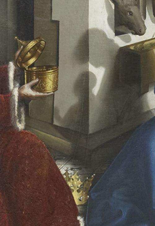 Konrad Witz Adoration des Mages Musee des BA Geneve detail ombre
