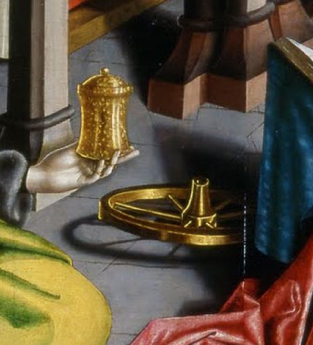 Konrad_Witz_Se Marie Madeleine et Ste Catherine Musee Oeuvre Strasbourg detail roue
