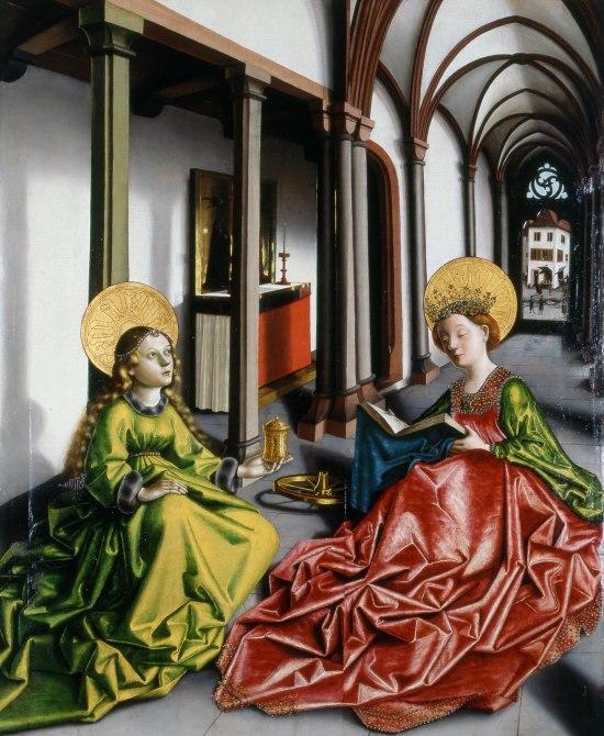 Konrad_Witz_Se Marie Madeleine et Ste Catherine Musee Oeuvre Strasbourg