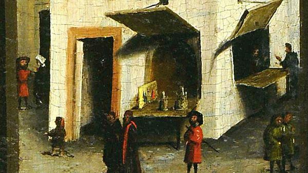 Konrad_Witz_Se Marie Madeleine et Ste Catherine Musee Oeuvre Strasbourg fond zoom