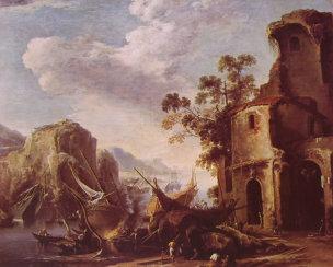 Rosa 1640 Veduta di un golfo, Galeria Estense Modene