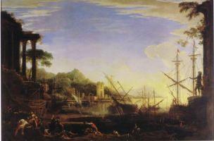 Rosa 1641-43 Le philosophe Crates jetant un denier dans la mer Collection privee