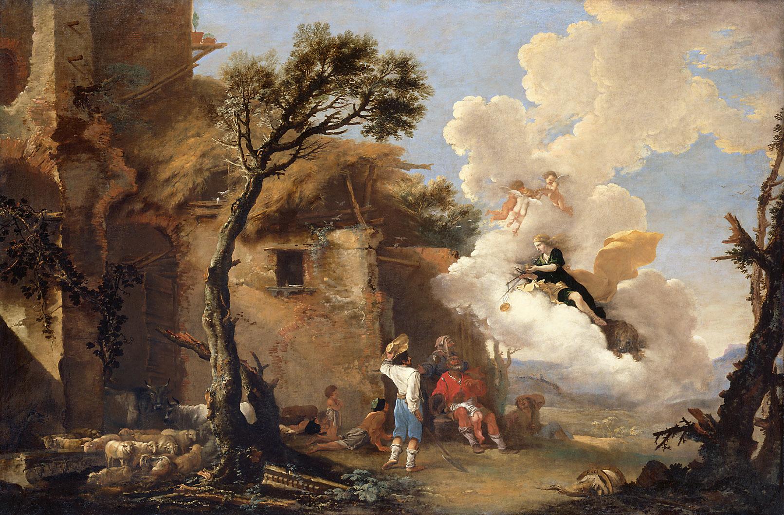 Rosa 1642-45 La Justice entre les bergers (Astree) Gemaldegalerie Vienne