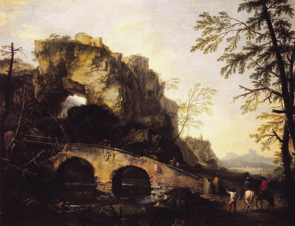 Rosa 1645-49 Pont en ruines Palazzo Pitti Florence